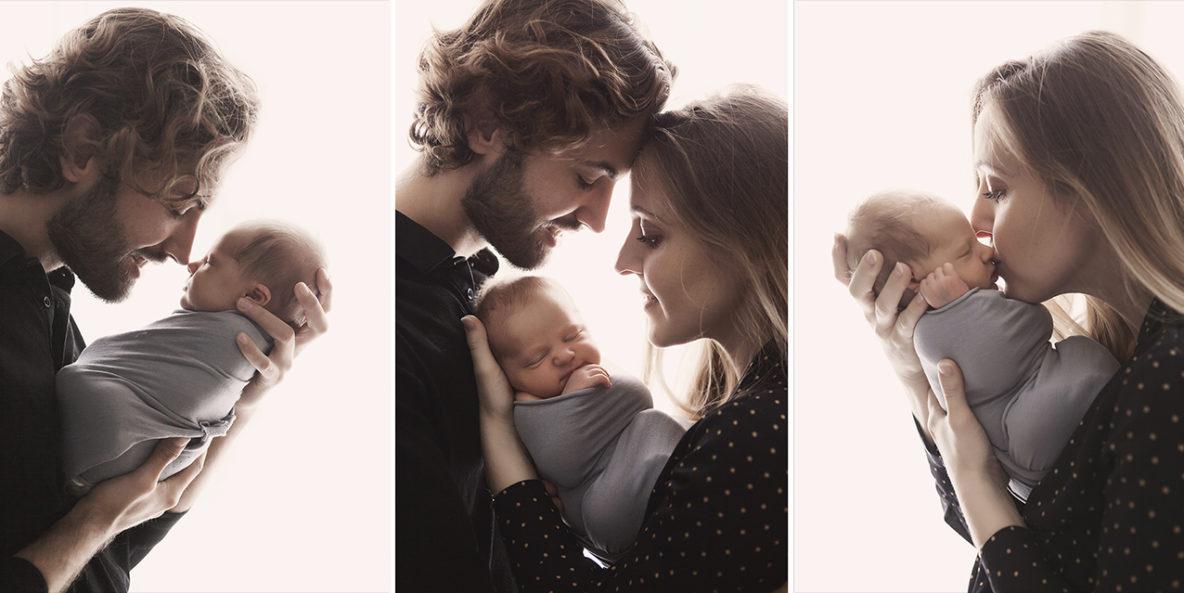seance photo naissance portrait parents avec nouveau-né