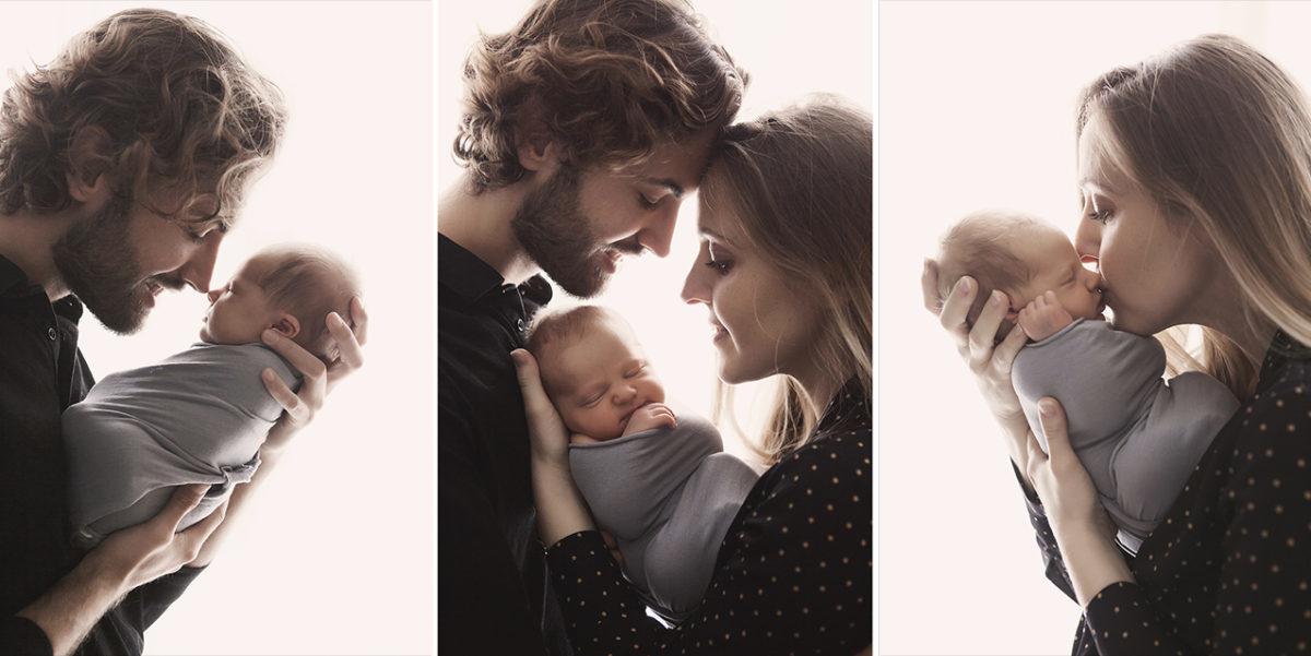 portrait nouveau-né en famille paris