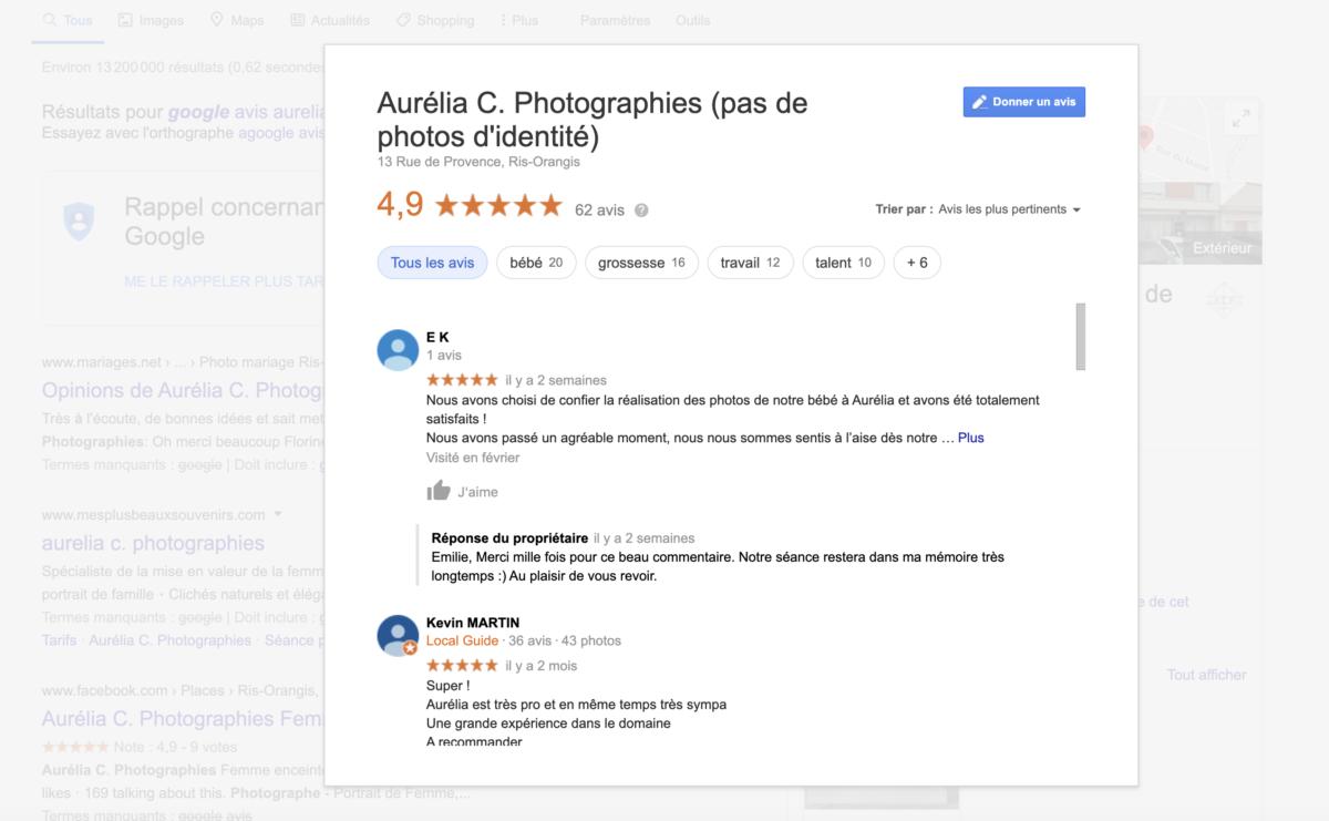 imprim ecran google avis aurelia c photographies
